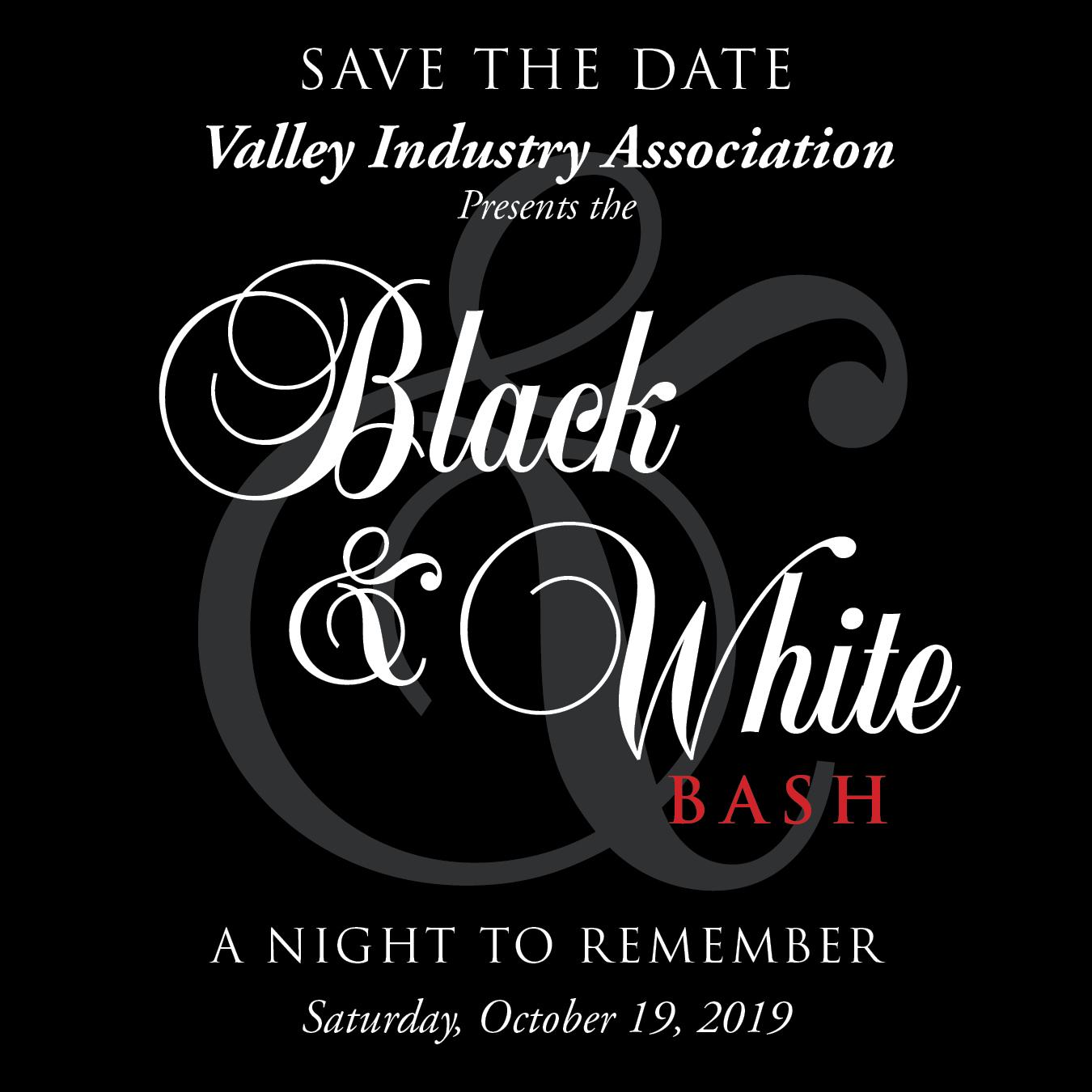 VIA BLACK & WHITE BASH   Cocktails:  7:00 p.m.     Dinner:  8:00 p.m. @ Hyatt Regency Valencia | Santa Clarita | California | United States