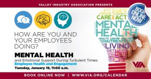VIA Virtual Series:  Mental Health and Emotional Support During Turbulent Times:  Employee Health and Engagement @ Virtual