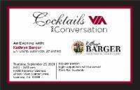 VIA Cocktails & Conversation:  An Evening with Supervisor Kathryn Barger @ Hyatt Regency Valencia | Santa Clarita | California | United States